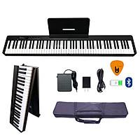 Đàn Piano Điện Gấp Gọn Bora BX-20 - 88 Phím Cảm Ứng Lực BX20 (Kèm Giá để bản nhạc, Pin sạc, Bluetooth, Pedal Sustain BR-02, Bao đựng) - Kèm Móng Gẩy DreamMaker