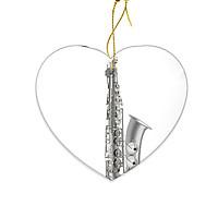 Miếng Sứ Trang Trí In Hình Kèn Saxophone - Mẫu004