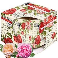 Ly nến thơm tinh dầu Bispol Sweet Home 100g QT029845 - hoa hồng leo