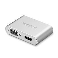 Bộ chuyển đổi cổng Lightning to HDMI + VGA cho iPhone, iPad Ugreen UG-30522 - Hàng chính hãng