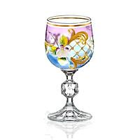 Bộ 6 ly rượu vang đắp nổi mạ vàng  24k Tiệp Khắc 150ml