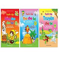 Combo 3 cuốn Truyện thơ cho bé tập nói + Tuyển tập Thơ ca, truyện kể câu đố cho trẻ mầm non