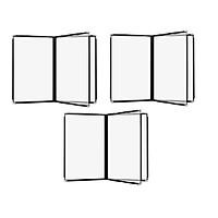 Bộ 3 bìa thực đơn 6 trang Urimenu trong suốt A4 viền may 2 kim màu đen cho nhà hàng, quán cafe