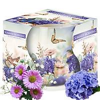 Ly nến thơm tinh dầu Bispol Summer Morning 100g QT04319 - hoa cẩm tú cầu