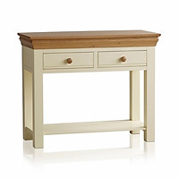 Bàn Console 2 Ngăn Kéo Country Cottage Gỗ Sồi Ibie LTO2COUO - Trắng (100 x 42 cm)