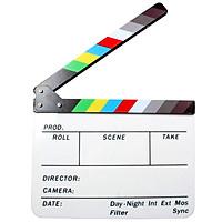 Acrylic Clapboard Dry Erase Director Film Movie Clapper Board Slate 9.6 * 11.7in
