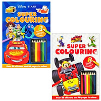 Combo Super Colouring 1 - Mickey & the Roadster Racers - Pixar