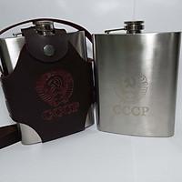Bình Rượu INOX CCCP Truyền Thống - Tặng kèm bộ Ly và Phễu INOX