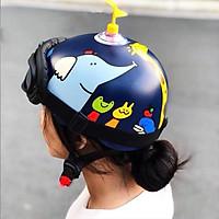 Mũ Bảo Hiểm Nửa Đầu Hươu Cao Cổ - Tặng Chong Chóng + Kính Phi Công