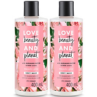 Combo 2 Sữa Tắm Làm Sáng Da Love Beauty And Planet 400ml