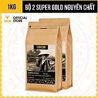 [1KG] Bộ 2 Gói Cà Phê Bột SUPER GOLD – Vị béo thơm, chua thoáng, hương quyến rũ –Cà phê pha phin thật 100% nguyên chất không pha trộn – TORO COFFEE – TORO FARM