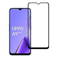 Miếng Dán Kính Cường Lực cho Oppo A9 2020 - Full màn hình - Màu Đen - Hàng Chính Hãng