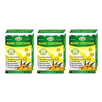 Thực phẩm chức năng sữa nghệ nano curcumin enlan gold 3 hộp giấy 150gr