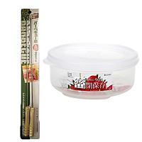 Combo 2 cây xiên đồ nướng BBQ + hộp nhựa đựng thực phẩm 480ml loại tròn có nắp nội địa Nhật Bản