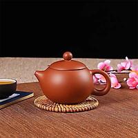 Ấm trà tử sa Nghi Hưng tiêu chuẩn dáng tròn vòi ngắn phụ kiện bàn trà trà đạo