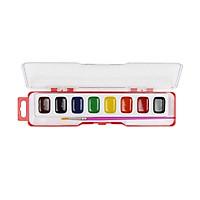 Màu nước 8 màu kèm cọ Hồng Hà 8102 (5 hộp)