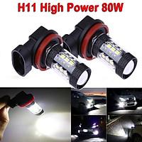 Super Bright Headlight Car LED Bulb 3030 16LED H8 H11 80W Fog Light Daytime Running Light