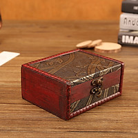 Jewelry Box Vintage Wood Handmade Box With Mini Metal Lock For Storing Jewelry T
