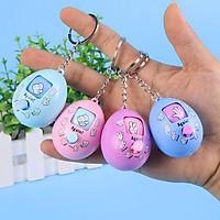 Móc khóa trứng oẳn tù tì kéo búa bao nút xoay ngẫu nhiên màu sắc kẹo ngọt đáng yêu – DC016