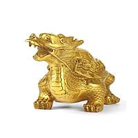 Tượng Long Quy rùa đầu rồng bát quái bằng đồng thau linh vật phong thủy Tâm Thành Phát