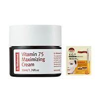 Kem Dưỡng Sáng Da, Chống Lão Hoá Giàu Vitamin By Wishtrend Vitamin 75 Maximizing Cream 50ml + Tặng Kèm Mặt Nạ Mắt Mediheal