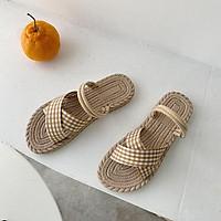 Giày sandal đế bằng thoải mái thời trang cho nữ