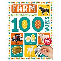 100 Words Farm Sticker Activity Book