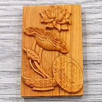 Mặt gỗ hoàng đàn khắc hình Hoa Sen MG103