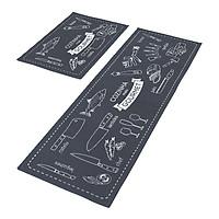 Combo 02 thảm nhà bếp cao cấp (40cm x 60cm và 40cm x 120 cm)