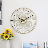 Đồng hồ phù điêu mạ vàng - Đồng hồ hình bánh xe