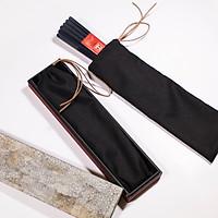 Bộ 10 đôi đũa đẹp đũa sạch  Gỗ Mun thân 8 cạnh chống lăn