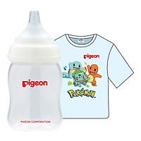 Combo Pigeon: Bình Sữa PP Plus 160ml + Áo Thun...