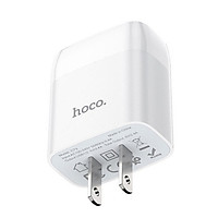 Cốc sạc nhanh Hoco dual usb 2.4A cho các thiết bị ( Trắng)- Hàng chính hãng