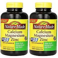 Viên Uống Nature Made Bổ Sung Canxi, Magie, Kẽm & Vitamin D (300 Viên x 2 Hộp)