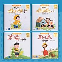 Sách thơ cho bé - Bộ Cảm Xúc Của Con (2 cuốn thơ + 2 cuốn kể chuyện) - Truyện tranh cho trẻ tập nói, mầm non 0-1-2-3-4-5-6 tuổi (Sách Đọc to giúp con gọi tên cảm xúc)