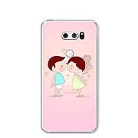 Ốp lưng dẻo cho điện thoại LG V30 - 0240 KISSLOVE01 - Hàng Chính Hãng