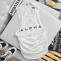 Áo Tập Gym Nam Ba Lỗ Alpha Chất Liệu Cotton Cao Cấp Thấm Hút Mồ Hôi
