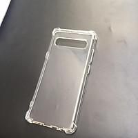 Ốp lưng silicon cho  Samsung Galaxy S10 5G - chống sốc gờ cao 4 góc trong suốt