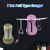 Retractable Wall-Mounted Pull-Out Rack 7-in-1 Multifunctional Without Punching Wide range of applications Easy and easy to insta