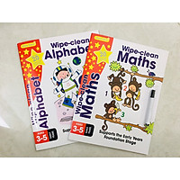 Sách: Combo 2 cuốn Wipe Clean Maths - Alphabet - Sách viết xóa cho trẻ 3-6 tuổi