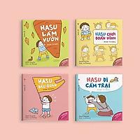 Sách Ehon Nhật Bản (4-10 tuổi): Set 4 Cuốn Những Câu Chuyện Kì Lạ Của Hasu - Nâng cao trí tưởng tượng, sáng tạo, tư duy Logic cho bé (Tặng kèm Markbook Hình thú ngộ nghĩnh )