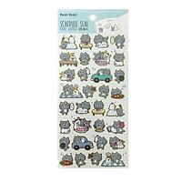 Sticker Moshi 009 - Mẫu 1 - Mèo Xám