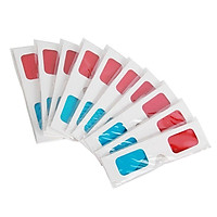 10 Pcs Universal Paper 3D Glasses View Anaglyph Red/Blue 3D Glasses for Movie Video