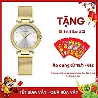 Đồng Hồ Nữ PAGINI  Viền Đính Đá - Dây Titanium Cao Cấp - PA2262