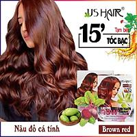 (Dạng chai) Dầu gội nhuộm tóc thảo dược US Hair