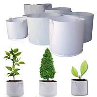 10 Túi Vải Địa Không Dệt có 2 quai xách trồng cây loại 1 ( 30x35 ) - dể ươm trồng cây