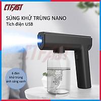 Thiết bị phun khử trùng nano cầm tay CTFAST - 05 : Máy phun khuẩn trùng gia đình tích điện không dây kết hợp ánh sáng xanh an toàn, khử trùng, diệt khuẩn, đuổi muỗi - Hàng chính hãng