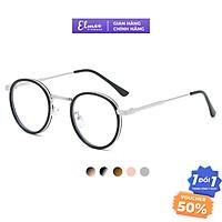 Gọng kính cận mắt tròn nhỏ Elmee chất liệu kim loại thanh mảnh chắc chắn, màu sắc thời trang E9300