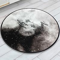 Thảm tròn DTP in hình fly to the moon Carmi (100 x100 cm)