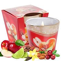 Ly nến thơm tinh dầu Bartek Christmas Time 115g QT028493 - bánh táo, cam, quế (giao mẫu ngẫu nhiên)